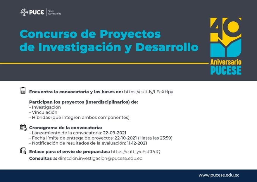 Concurso de Proyectos de Investigación y Desarrollo
